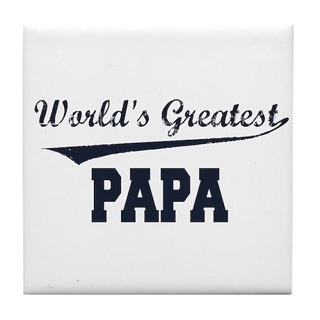 World's Greatest Papa Tile Coaster