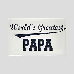 World's Greatest Papa Rectangle Magnet