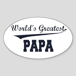 World's Greatest Papa Oval Sticker