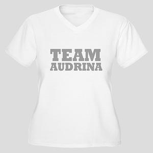 Team Audrina Women's Plus Size V-Neck T-Shirt