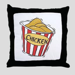 Bucket of Chicken Throw Pillow