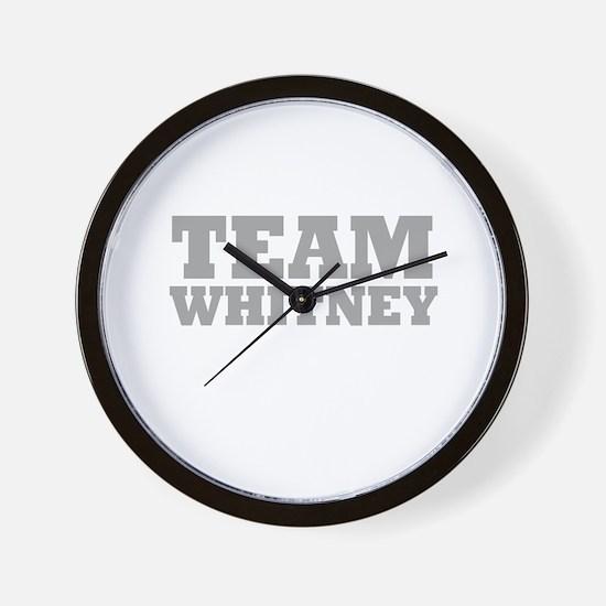 Team Whitney Wall Clock