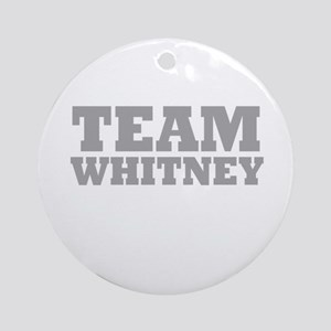 Team Whitney Ornament (Round)