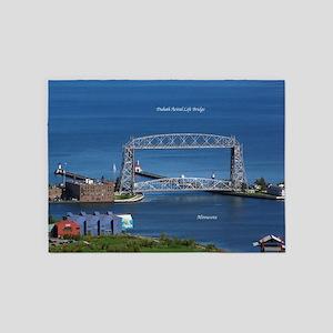 Duluth Aerial Lift Bridge 5'x7'area Rug
