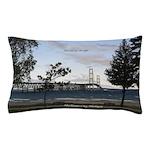 Mackinac Bridge From Mackinaw City Pillow Case