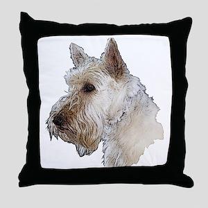 Scottish Terrier (Wheaten) Throw Pillow