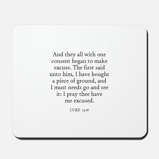 LUKE  14:18 Mousepad
