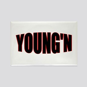 """YOUNG'N"" Rectangle Magnet"