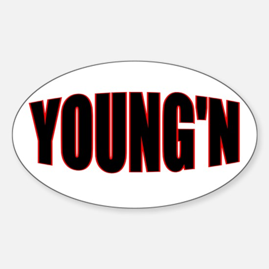 """""""YOUNG'N"""" Oval Decal"""