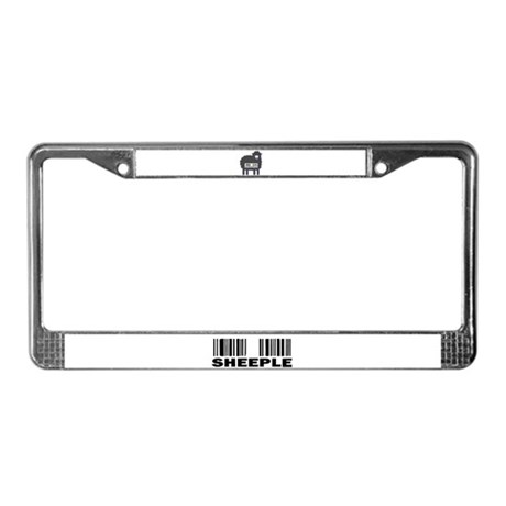 Sheeple Barcode License Plate Frame