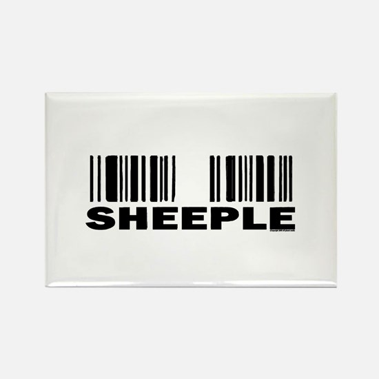 Sheeple Barcode Rectangle Magnet