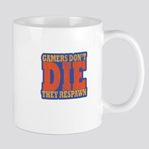 Gamers Don't Die They Respawn Distressed Mugs