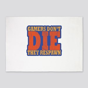 Gamers Don't Die They Respawn D 5'x7'Area Rug