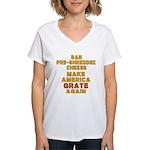 Make America Grate Again Women's V-Neck T-Shirt