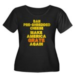 Make Ame Women's Plus Size Scoop Neck Dark T-Shirt