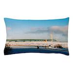 Mackinac Bridge Winter Pillow Case