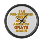 Make America Grate Again Large Wall Clock