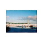 Mackinac Bridge In Winter 5'x7'area Rug