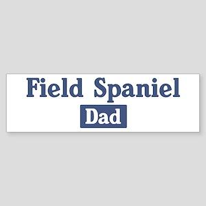Field Spaniel dad Bumper Sticker