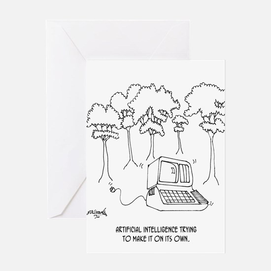 Artificial Intelligence Cartoon 3633 Greeting Card