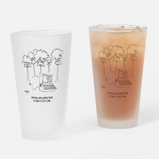 Artificial Intelligence Cartoon 363 Drinking Glass