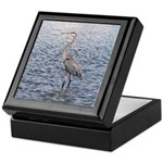 Blue Heron Water Keepsake Box