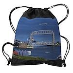 Duluth Aerial Lift Bridge Drawstring Bag