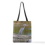 Blue Heron Polyester Tote Bag