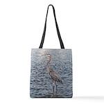 Blue Heron Water Polyester Tote Bag