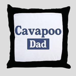 Cavapoo dad Throw Pillow
