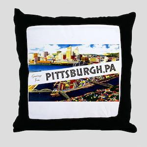 Pittsburgh Pennsylvania Greetings Throw Pillow