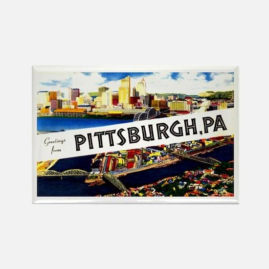 Pittsburgh Pennsylvania Greetings Rectangle Magnet