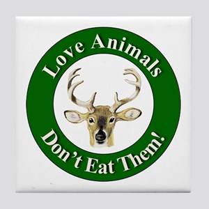 Love Animals Tile Coaster