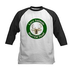 Love Animals Kids Baseball Jersey
