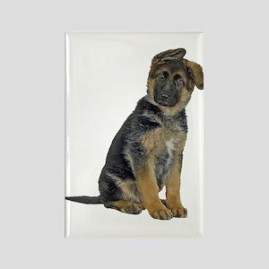 German Shepherd Puppy Rectangle Magnet