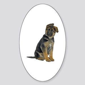 German Shepherd Puppy Oval Sticker