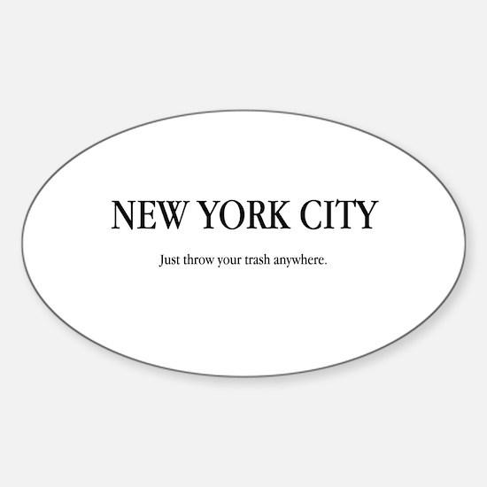 NYC Trash Oval Decal