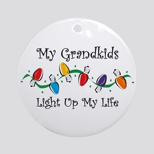 Grandkids Light My Life Ornament (Round)