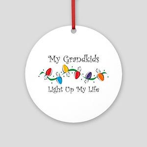 Grandkids Light My Life Ornament (Round)