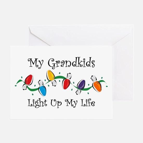 Grandkids Light My Life Greeting Card