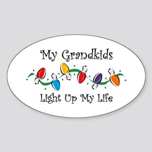 Grandkids Light My Life Oval Sticker