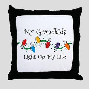Grandkids Light My Life Throw Pillow