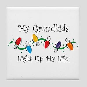 Grandkids Light My Life Tile Coaster