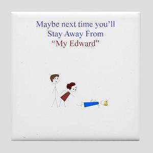 ~My Edward 001 ~ Tile Coaster