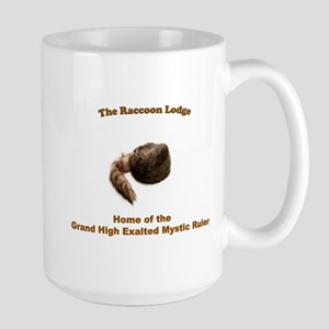 Raccoon Lodge Large Mug