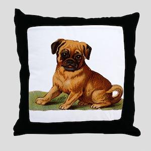 Baby Pug Throw Pillow