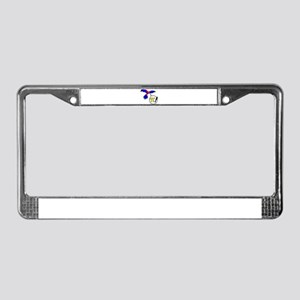 Poly the Pride Parrot License Plate Frame