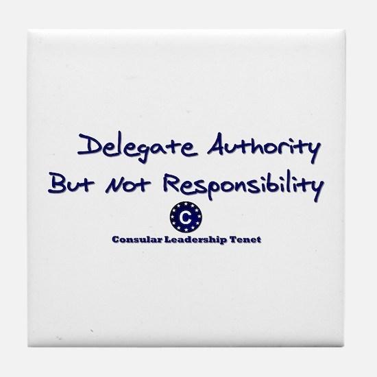 DP-Delegate Authority Tile Coaster