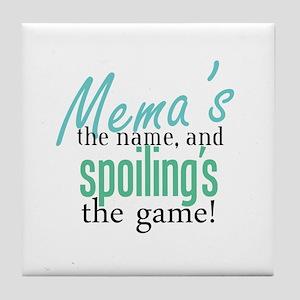 Mema's the Name Tile Coaster