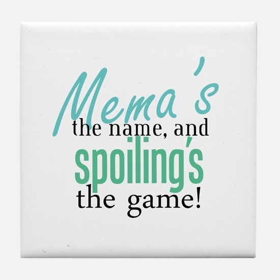 Mema's the Name Tile Coaster